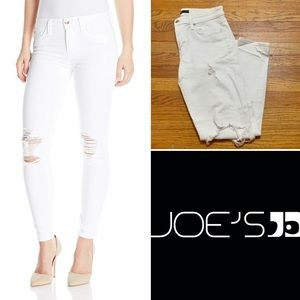 Distressed White Skinny Joes Jeans, Sz 29